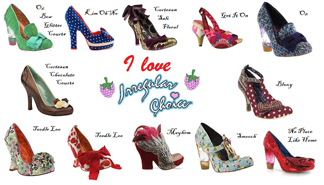 Purple Floral Mid Heel Shoes Irregular Choice /'Viola/' A Loads More Styles
