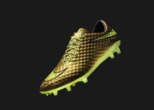 Nike gold Hypervenom football boots special edition Neymar JR