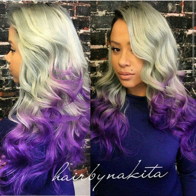 Colorful Hairstyles multi colored ombre hair claireverity found on polyvore Gallery
