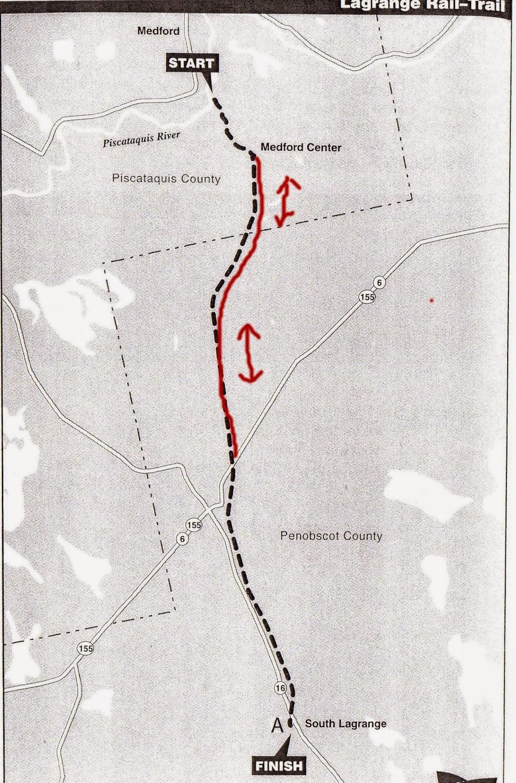 Hiking In Maine With Kelley  Lagrange RailTrail - Us rail trail map