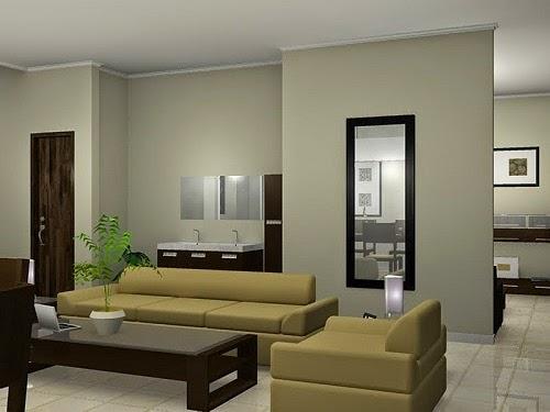 Gambar Desain Ruang Tamu Rumah Minimalis SEDERHANA PILIHAN 004