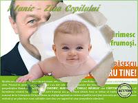Funny postcard Traian Basescu Ziua Copilului