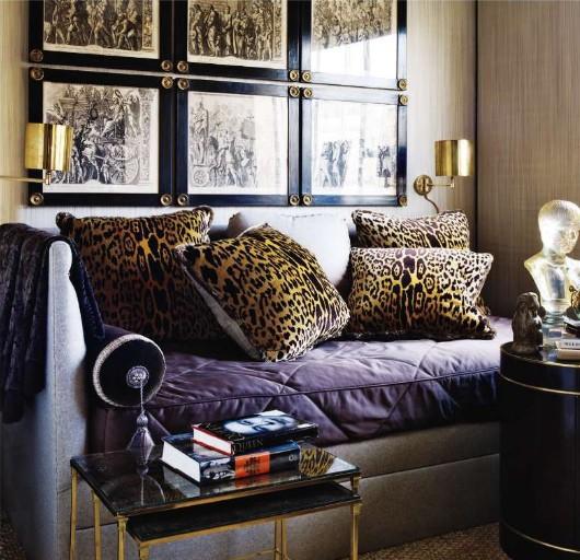 Леопардовый цвет в интерьере