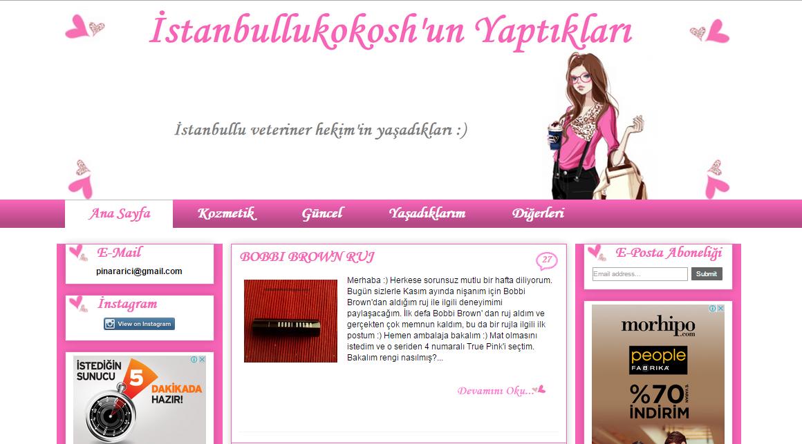 istanbullukokosh yeni blogger sablon tasarimi