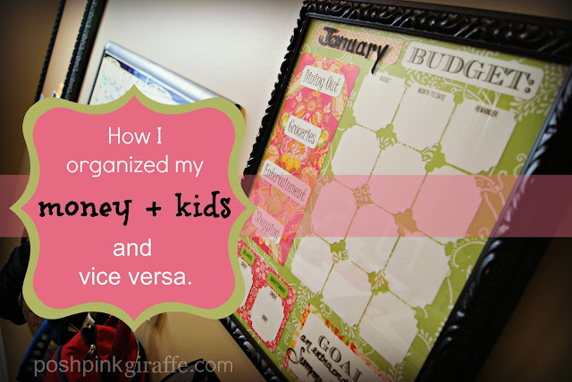 How I Organized my {Money+Kids} from Posh Pink Giraffe