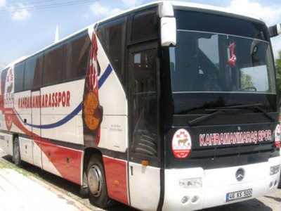 Kahramanmaraşspor otobüsü