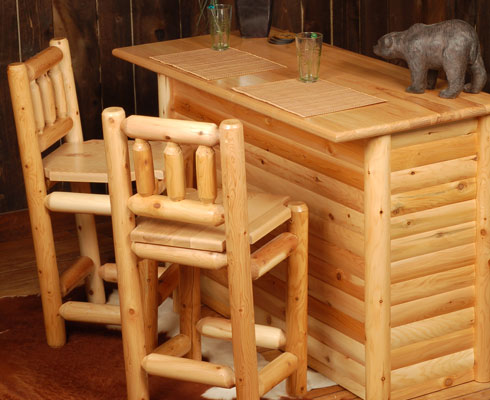 High Quality Crafted Of Hand Peeled, Northern White Cedar Logs, Our Log Bars Make A  Perfect Place To Gather With Friends. Many Wonderful Memories Will Be Had  Here!