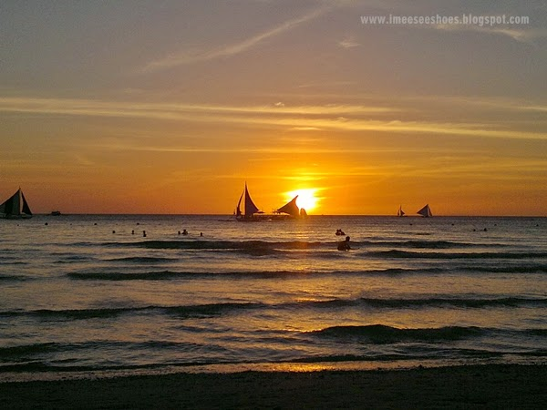 sunset, boracay, amazing