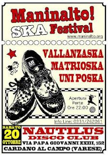 Ska Festival: Vallanzaska, Matrioska e Uni Poska 20 ottobre