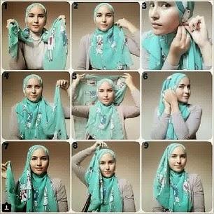 Cara Memakai Jilbab Simple Cantik