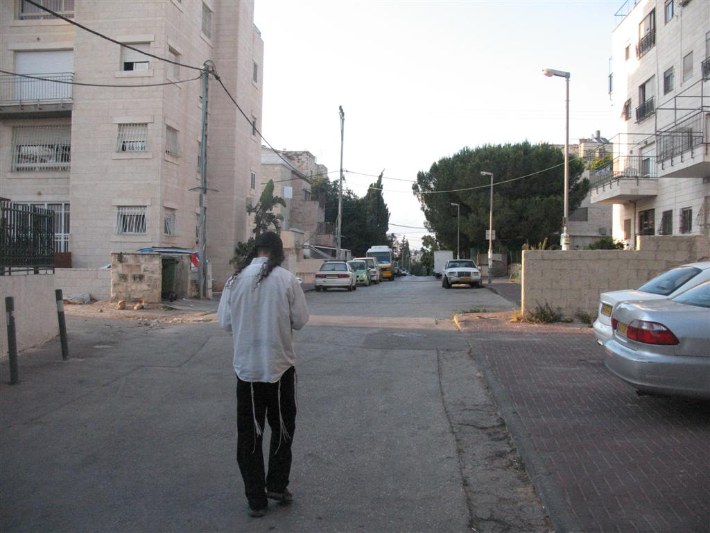 Cosmic X in Jerusalem: Givat Shaul V: Chaim Vital Street Facing North