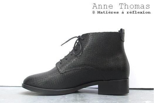 Boots cuir Anne Thomas