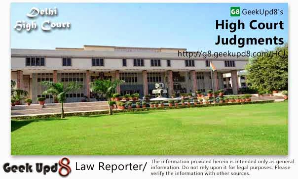 Delhi High Court, Delhi Judgments