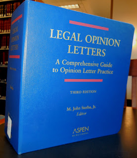 Legal opinion letters book cover