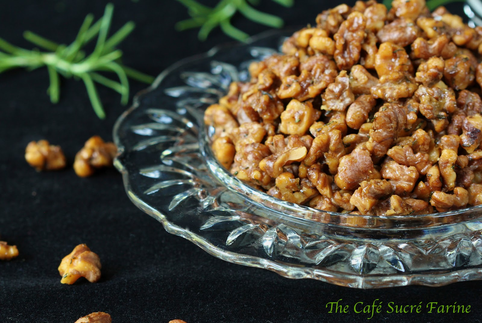 Rosemary-Roasted Honey Walnuts - sweet and salty with a delicious hint ...