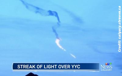 Mystery Fireball Over Calgary 1-19-16