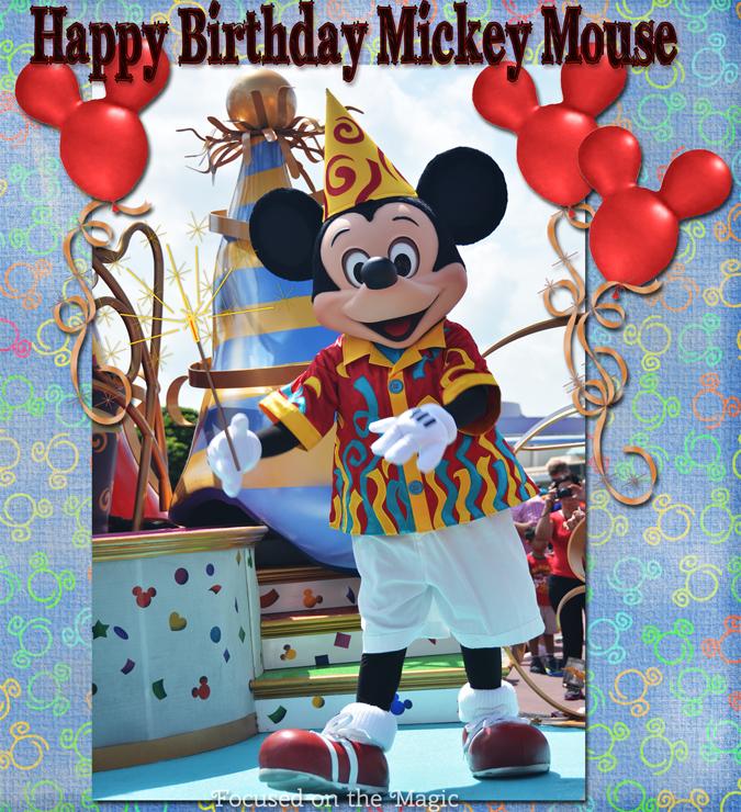 Mickey Mouse Birthday on The Disney Wordless Wednesday Blog Hop.