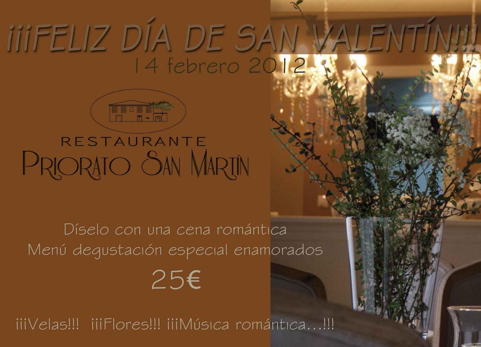 Restaurante Priorato San Martin Cena San Valentin Santiago De  ~ Cena Romantica En Santiago De Compostela