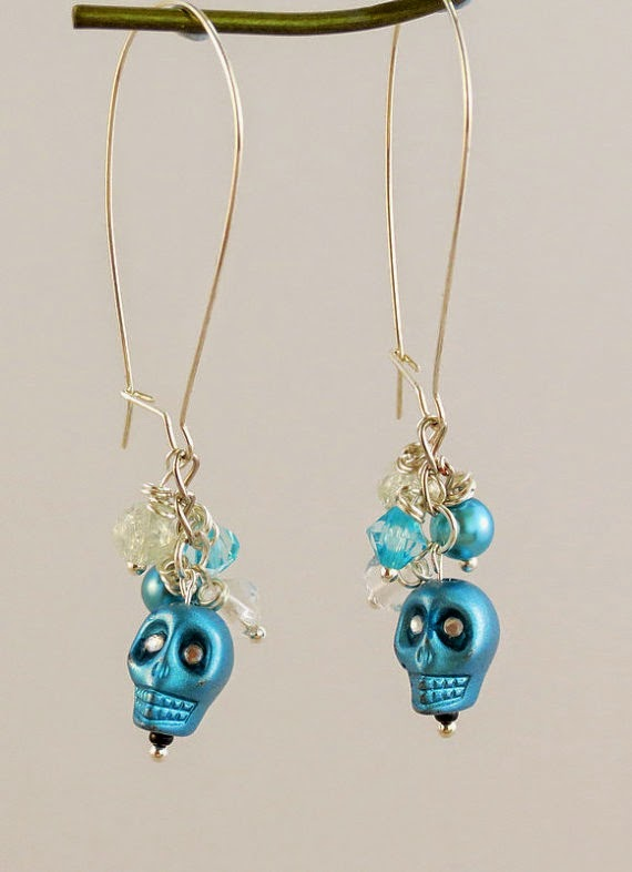 i JUST TREATED MYSELF IN ESTY TO THESE EARRINGS FOR HALLOWEEN