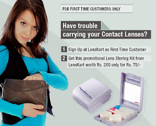 Lenskart Offer: Signup & Get Lens Storing Kit worth Rs.200 just for Rs.75 (Free Shipping)