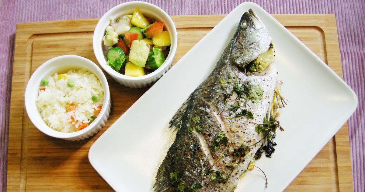 Peng's Kitchen: Baked Seabass & Salsa