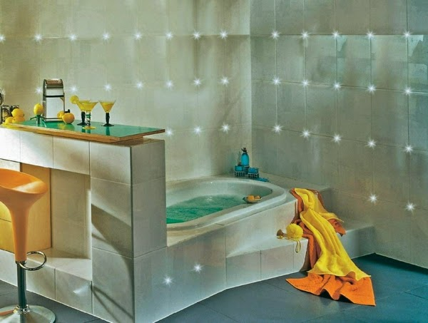 bathroom led tiles ideas to make a great atmosphere