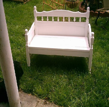 Made With Honor Toddler Bed Turned Into Bench