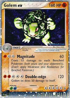 Golem ex Pokemon Card EX Dragon Set