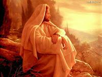 Foto de Jesus em meditação