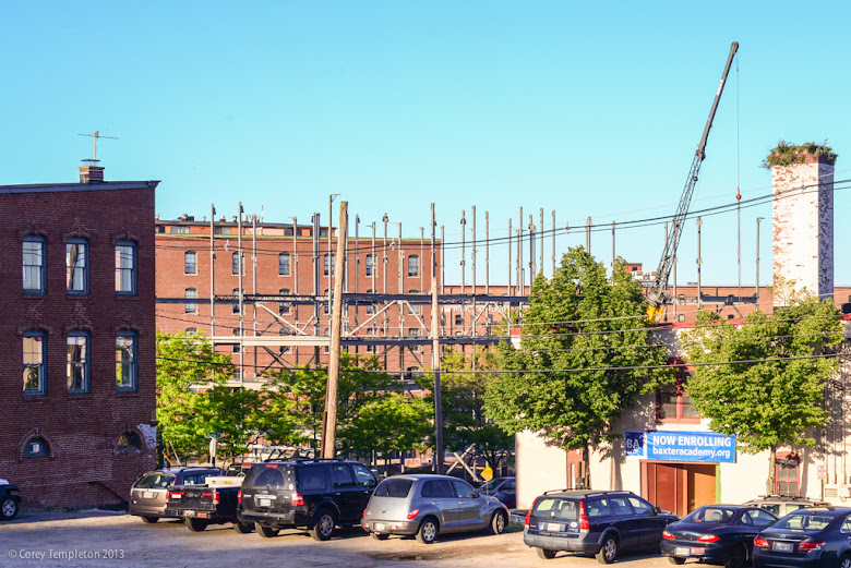 Courtyard by Marriott Hotel Portland, Maine Construction Photograph by Corey Templeton