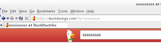 "Normal looking address bar, ""Nautipolis theme"" at DuckDuckGo.com"