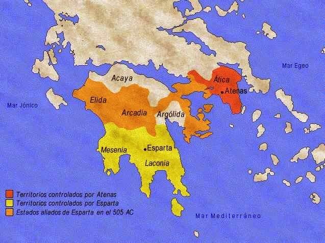 esparta, atenas, peloponeso, grecia, mapa del peloponeso
