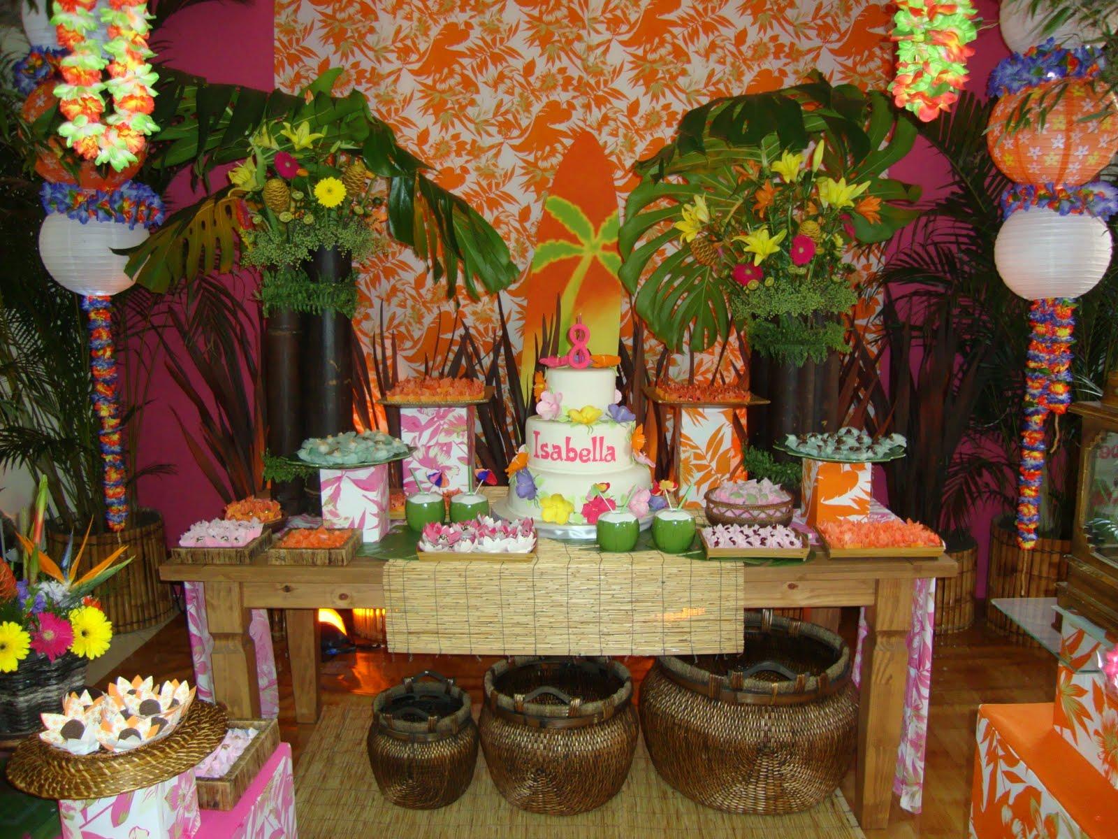 decoracao festa luau: MORÁS♥ஜღ : Dicas de Decoração para Festa Havaiana ou Luau