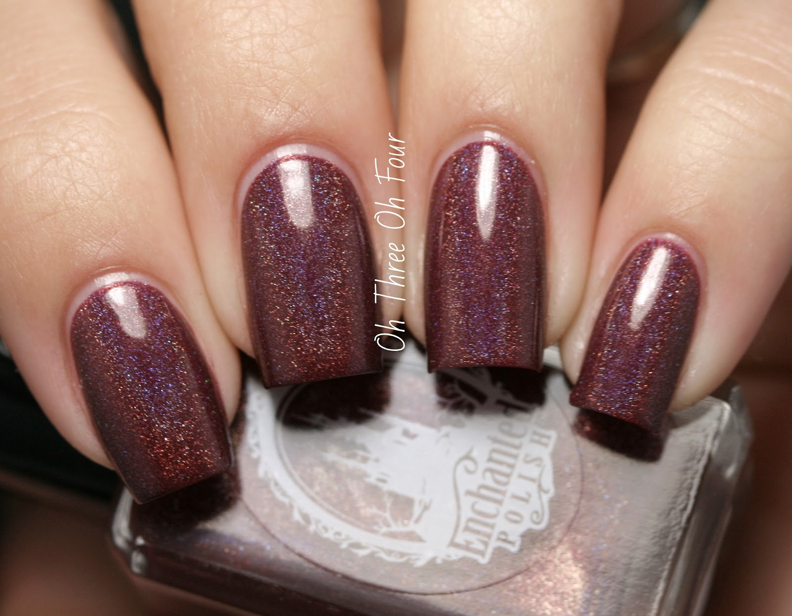 Enchanted Polish Mr. Burgundy Swatch