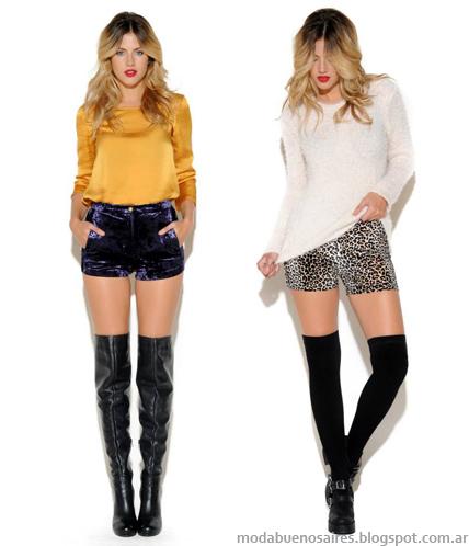 Moda juvenil otoño invierno 2014 shorts. Cenizas otoño invierno 2014.