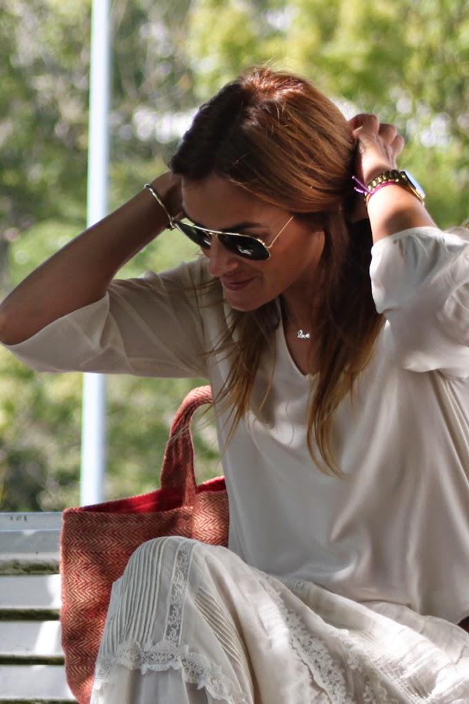 Boho Chic, romántico, Estilo, Lucía Díez, Es Cuestion de estilo, Massimo Dutti  vestido, Pedro del Hierro,