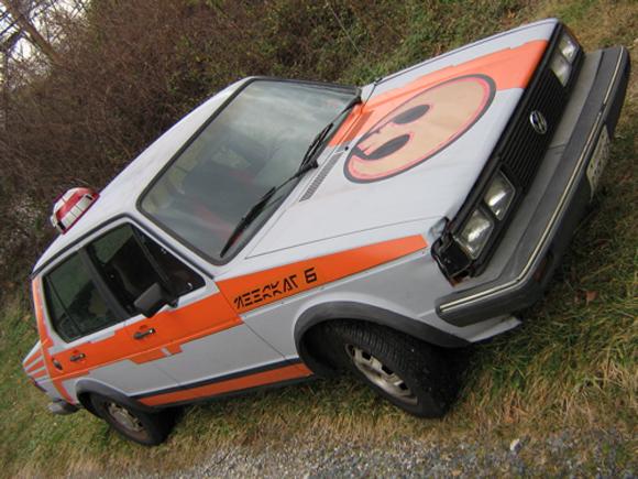 Meerkat Six Star Wars 1981 Jetta Art Car - Front Side