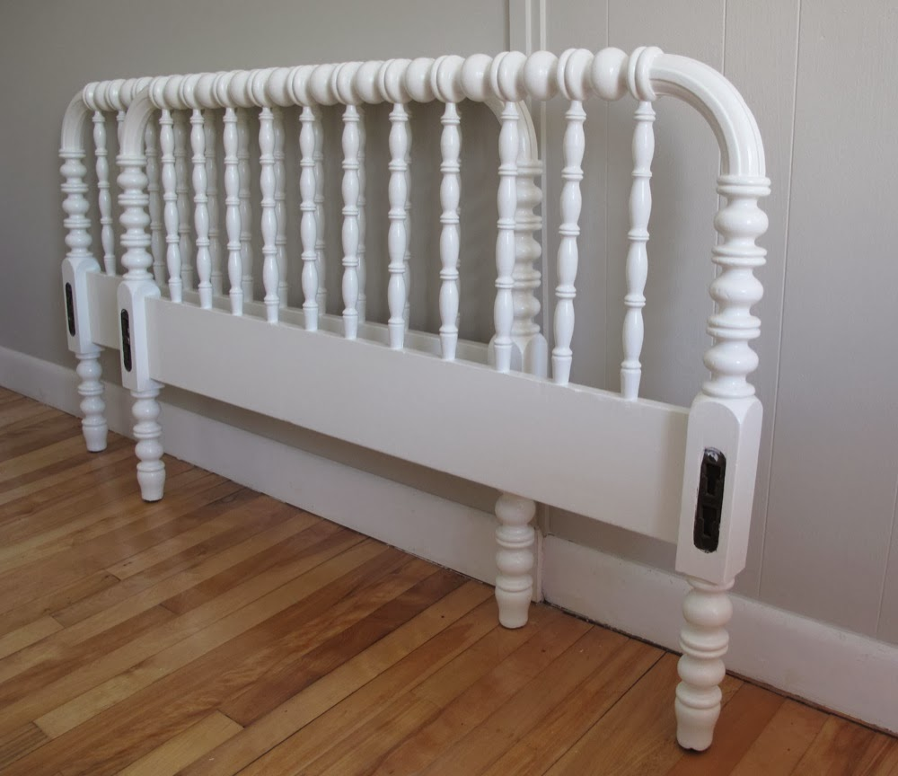 White jenny lind twin bed frame sold