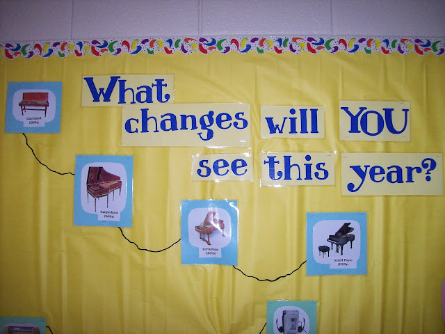 Bulletin board changes in music