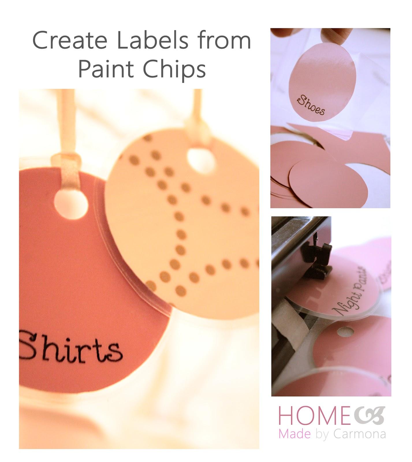 Paint Chip Labels