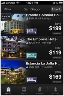 Hotel Tonight travel app last minute deals