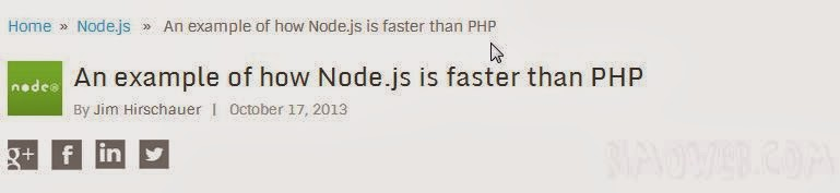 Node.js faster than PHP with this tutorial