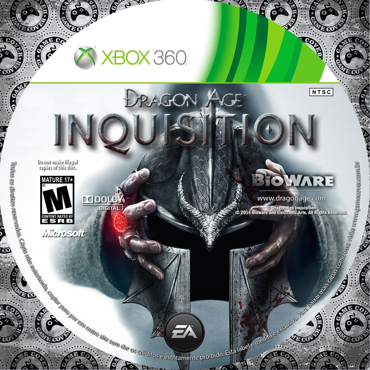Label Dragon Age Inquisition Xbox 360 [Exclusiva]