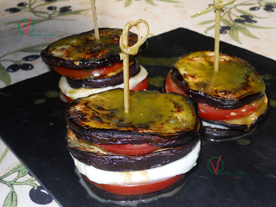 torres De Berenjena, Tomate Y Mozzarella