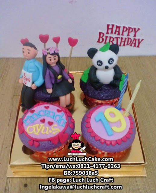 Cupcake Ulang Tahun Untuk Pacar Tema Panda