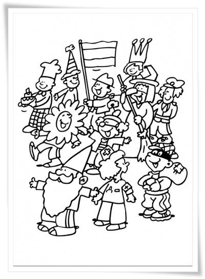 Kids-n-fun 36 Ausmalbilder von Karneval - Ausmalbilder Fasching Gratis