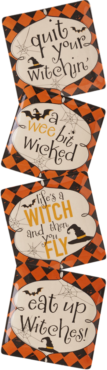 Eat Up Witches Appetizer Plate Set