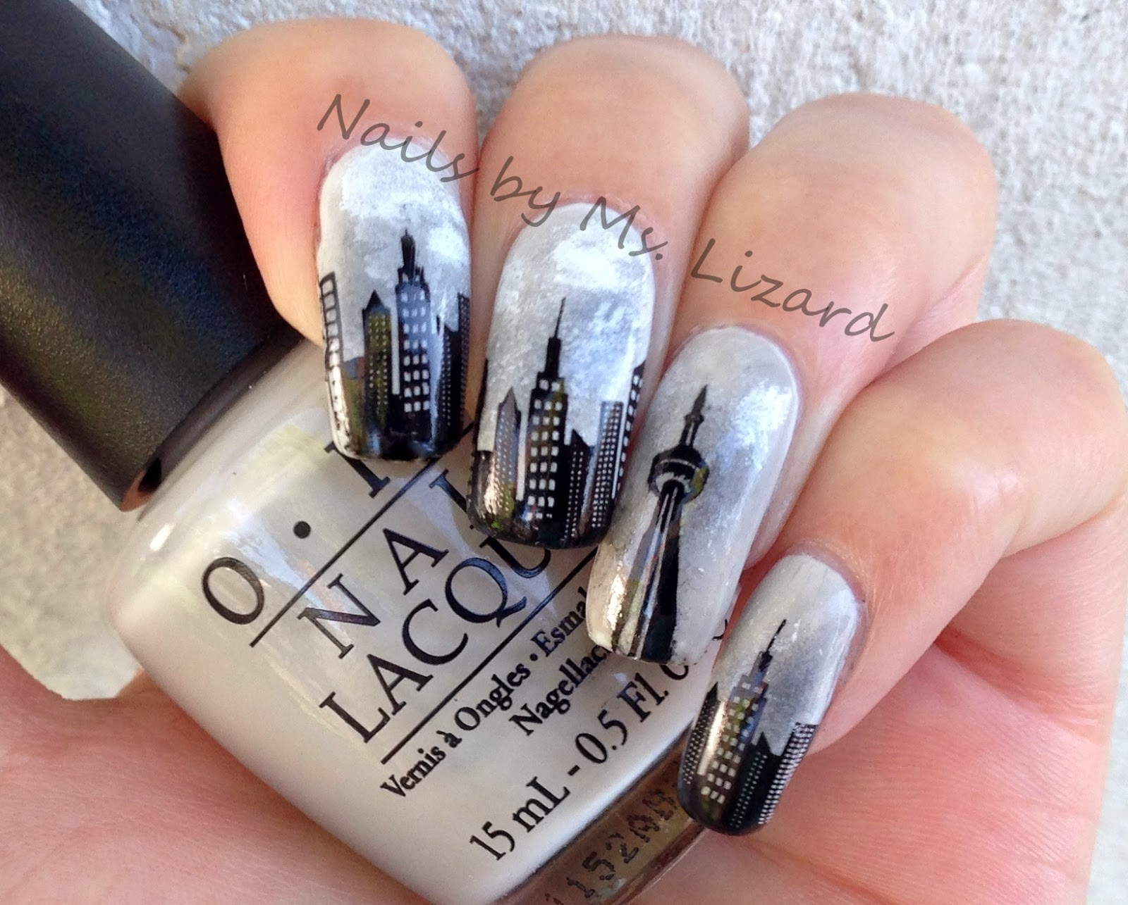 Nails by Ms. Lizard: Seattle Cityscape Nails