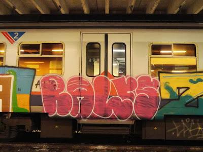 art on train