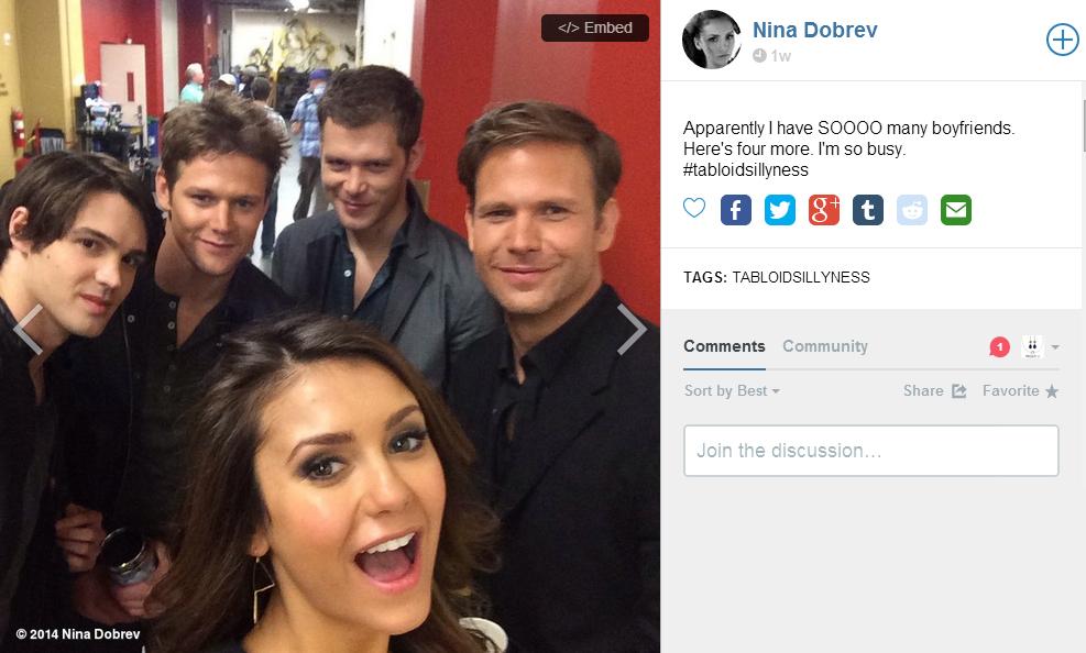 Nina Dobrev Vampire Diaries season 6 photoshoot earrings